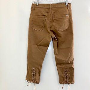 D2G Diane Gilman Brown Ankle Pants 10P